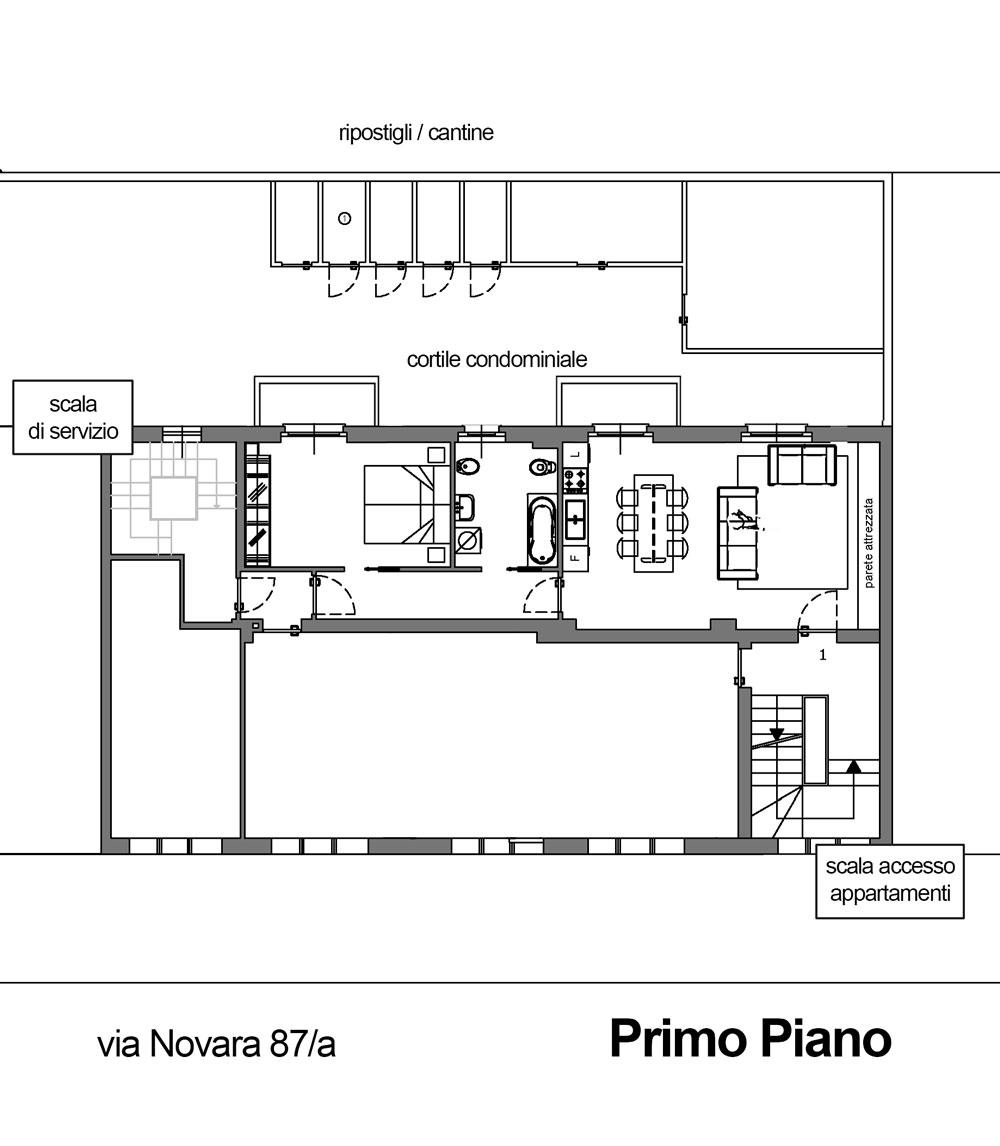 Foresteria n 02 la foresteria di villa cella for Appartamenti arredati milano